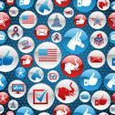 Stock Illustration of USA elections icons glossy buttons pattern