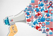 Stock Illustration of US elections: politics message promotion