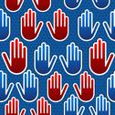 Stock Illustration of USA elections hand pattern
