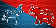 USA elections Democratic vs Republican party - stock illustration