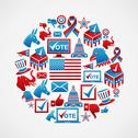 Stock Illustration of US elections icons circle