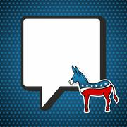 USA elections: Democratic politic message - stock illustration