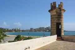 fortress san carlos borromeo, pampatar, isla margarita - stock photo