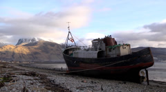 LOCH LINNHE, CORPACH, HIGHLANDS, SCOTLAND Stock Footage