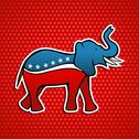 Stock Illustration of USA elections Republican party elephant emblem