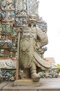 Statue from wat arun Stock Photos