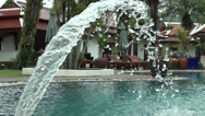 Stock Video Footage of Pool fountain in slow motion clip 1 of 3, day time