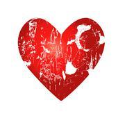 red heart - stock illustration
