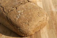 Organic yeast home-made bread  - stock photo
