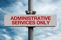 Street sign - Administrative services only Stock Photos