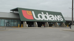Loblaws store at Lesley Street and Eastern Avenue in Toronto. Stock Footage
