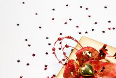 Background with gift - stock photo