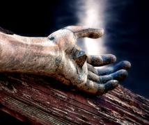 Jeesus ristillä taivaallisen taivaalla Kuvituskuvat