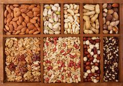 Arrangement of Nuts Stock Photos