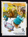 Stock Photo of Postage stamp GB 1979 Peter Rabbit