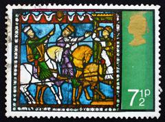 Postage stamp GB 1971 Journey of the Kings Stock Photos