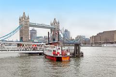 thames river boat - stock photo