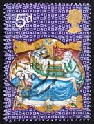 Postage stamp GB 1970 Nativity - stock photo
