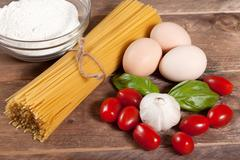 Stock Photo of ingredients for preparing a meal.