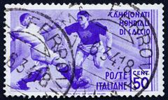 Postage stamp Italy 1934 Soccer Players - stock photo