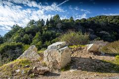 Chantry Flats in the Angeles National Forest Stock Photos