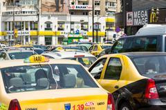 Rush Hour Traffic Jam - stock photo