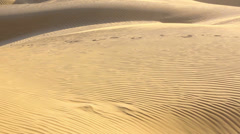 View of sand dunes in Thar desert, Rajasthan, India Stock Footage