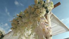 Thai wedding altar on the beach clip 2 of 3 - stock footage