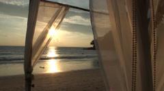 Thai wedding altar on the beach clip 1 of 3 - stock footage