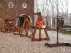 Medieval training apparatus  in kasteel hoensbroek, one of the most famous du Stock Photos