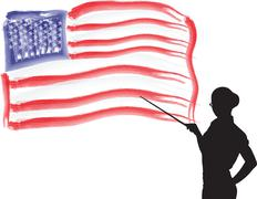 Stock Illustration of u.s. flag independence day