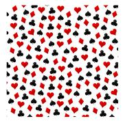 Playing cards background Stock Illustration