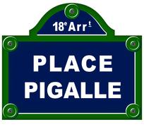 Place pigalle sign Stock Illustration
