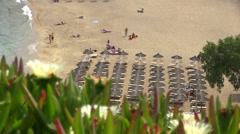 Super Paradise Beach in Mykonos Island in Greece Stock Footage
