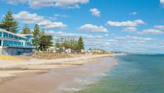 Hyperlapse video purjehtii koko kaunis ranta Australiassa Arkistovideo