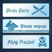 Nautical banners Stock Illustration
