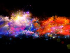 Colors of creation - stock illustration