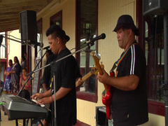 Modern Tongan band, people or person in shot, HD, UP15340 - stock footage
