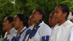 Close Tonga choir, people or person in shot, HD, UP15381 - stock footage