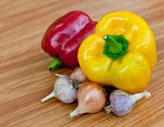 Fresh sweet  paprika. Stock Photos