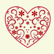 heart pattern - stock illustration
