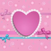Stock Illustration of heart card