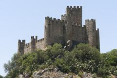 Castle of Almourol Stock Photos