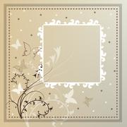 card with pattern - stock illustration
