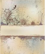 texture with floral - stock illustration