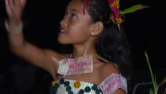 Tongan girl traditional dancing, people or person in shot, HD, UP15545 - stock footage