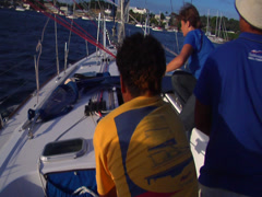 Sailing, pulling sheets, people or person in shot, HD, UP15641 - stock footage