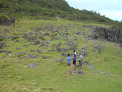 Tourists at rock garden, HD, UP16100 Stock Footage