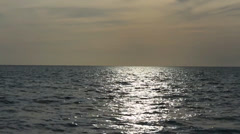 Calm waters of the Gulf of Mexico at sunset - stock footage