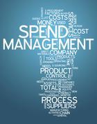 word cloud spend management - stock illustration